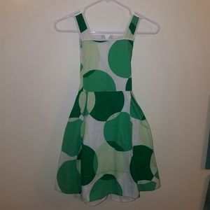 Children's Place Green Dotted Dress